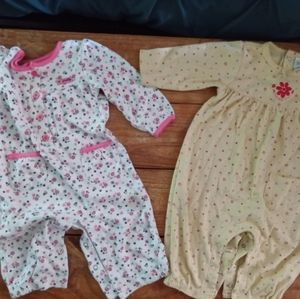 2 infant Rompers - long sleeved